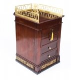 Vintage Mahogany Versace Pedestal Commode Chest Late 20th C