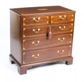 Antique George III Mahogany & Boxwood Lined Chest 18th Century