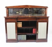 Antique William IV Chiffonier Open Bookcase Sideboard 19th Century