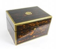 Antique Coromandel & Brass Banded Jewellery Box Coton Hall