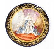 Antique large Sevres Porcelain Charger Louis XV M.Rochette 19th C