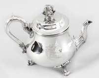 Antique William IV Silver Teapot Paul Storr 1826 19th Century