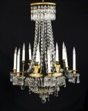 Antique French Empire 12 light Ballroom Chandelier C1850 19th Century
