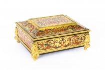 Antique French Tortoiseshell Boulle Ormolu Mounted Jewellery Casket