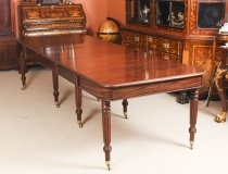 Antique Regency Flame Mahogany Dining Table Manner of Gillows 19th C