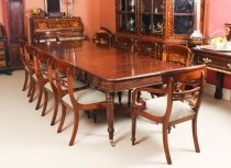 Antique Regency Dining Table Manner of Gillows 19th C & 10 chairs