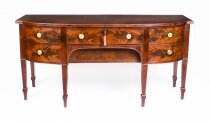 Antique English Regency Flame Mahogany Sideboard 19th Century