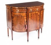 Antique Victorian Half Moon Mahogany Bow Front Cabinet