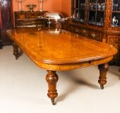 Antique Victorian Pollard Oak Extending Dining Table Mid 19th Century
