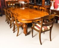 Antique Pollard Oak Victorian Extending Dining Table 19th C & 10 Chairs