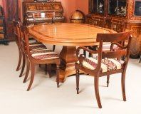 Vintage Circular Extending Dining Table by Charles Barr & 6 2 chairs 20th C
