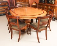 Vintage Circular Extending Dining Table by Charles Barr & 8 chairs 20th C