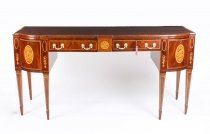 Antique Regency Flame Mahogany and Satinwood Inlaid Sideboard Ca 1820 19th C