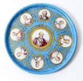 Antique 20 inch diam Sevres Porcelain Charger of Louis XVI 19th Century