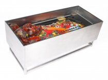 Vintage Light Up Glass Top Coffee Table Gottlieb Pinball Playfield Mid Century
