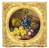 Antique Oil Painting Still Life of Fruit Attributed to Maria Margitson 19th Cent