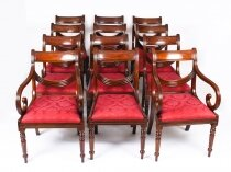 Vintage Set 12 Regency Revival Swag back Dining Chairs 20th Century