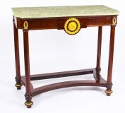 Antique French 2nd Empire Marble Top & Ormolu Mounted Console Table 19th C