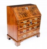 Antique Fine George II Burr & Figured Walnut Bureau C1730 18th Century