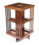 Antique Edwardian Revolving Bookcase By Edwards & Roberts