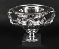Antique Italian Grand Tour Bronze Silver Plated Warwick Vase Urn Ca1860 19th C