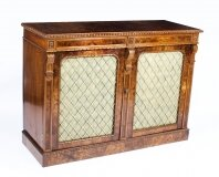 Antique William IV Burr Walnut Chiffonier Sideboard C1830 19th Century