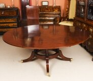 Vintage 6ft Diam Mahogany Jupe Dining Table & Leaf Cabinet. Mid 20th C