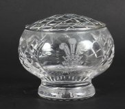 Vintage Crystal Cut Glass Rose Bowl Flower Vase Royal Wedding 1981
