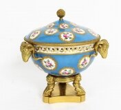 Antique Ormolu Mounted Bleu Celeste Sevres Porcelain Centrepiece 19th C