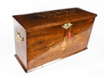 Antique Victorian Gonçalo Alves Writing Stationery Box C1860