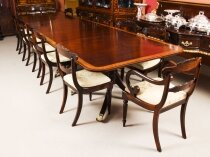Antique 14ft Regency Metamorphic Dining Table & 12 chairs 19th C