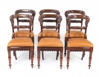Antique Set of 6 William IV Mahogany Dining Chairs c1830 19th C