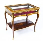 Antique French Ormolu Mounted Marquetry Bijouterie Display Table 19th Century