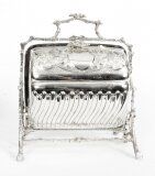 Antique English Silver Plated Sweets Biscuit Box Mappin & Webb 19th Century
