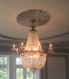Antique Louis Revival 20 light Ballroom Cut Crystal Tent Chandelier c1920
