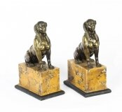 Antique Pair Empire Egyptian Campaign Bronze Sphinxes C1820 19th C