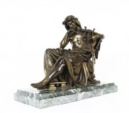 Antique Bronze of Orpheus Albert Ernest Carrier Belleuse 19th C