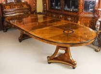 Vintage 10ft 6& 34 George III Style Dining Table from Harrods 20th Century