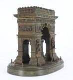 Antique French Grand Tour Bronze Model of The Arc de Triomphe, 19th Century