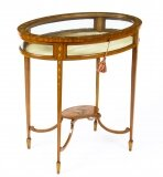 Antique Edwardian Satinwood Bijouterie Display Table Circa 1900