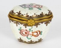 Antique French Samsons Porcelain Pillbox C1860 19th C