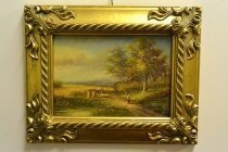 P0300-Oil-Painting-Countryside-Walk-Giltwood-Frame