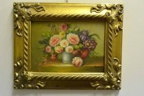 P0302-Oil-Painting-Flowers-Giltwood-Frame