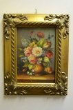 P0303-Oil-Painting-Flowers-Giltwood-Frame