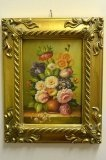 P0304-Oil-Painting-Flowers-Giltwood-Frame