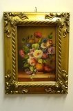 P0307-Oil-Painting-Flowers-Giltwood-Frame