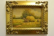 P0309-Oil-Painting-Countryside-Walk-Giltwood-Frame