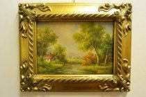 P0310-Oil-Painting-Countryside-Walk-Giltwood-Frame