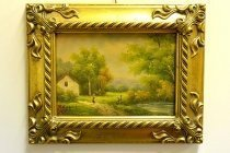 P0312-Oil-Painting-Countryside-Walk-Giltwood-Frame
