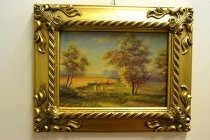 P0313-Oil-Painting-Countryside-Walk-Giltwood-Frame